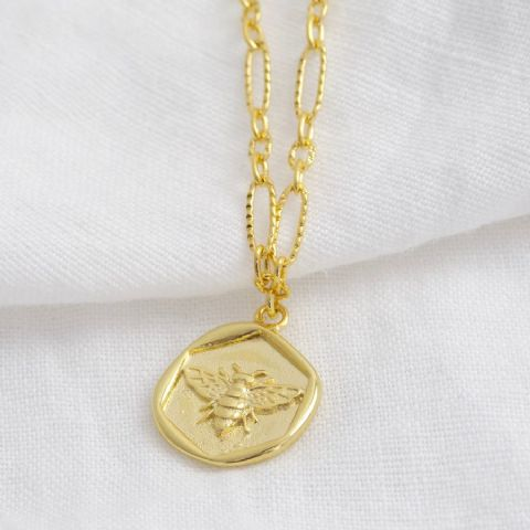 WAX SEAL BEE NECKLACE